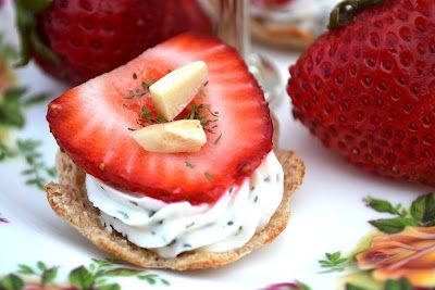 Sweetology: Herbed Strawberry Tea Sandwiches! ~ Happy Tea Party Tuesday