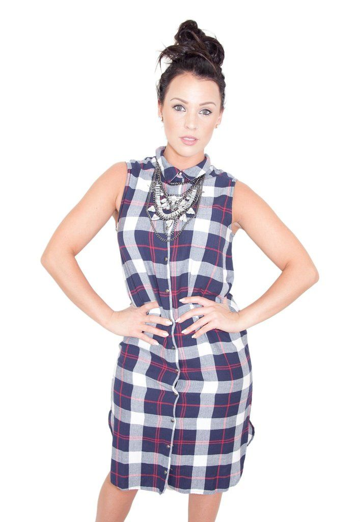 TAPPED OUT PLAID DRESS