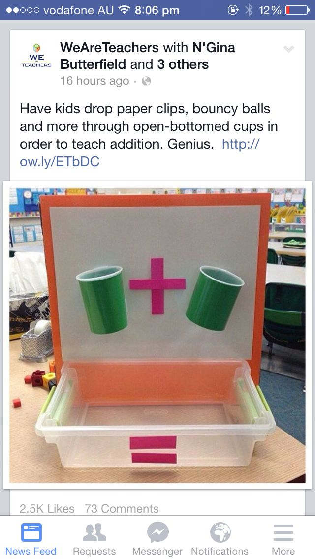 Love this idea for addition