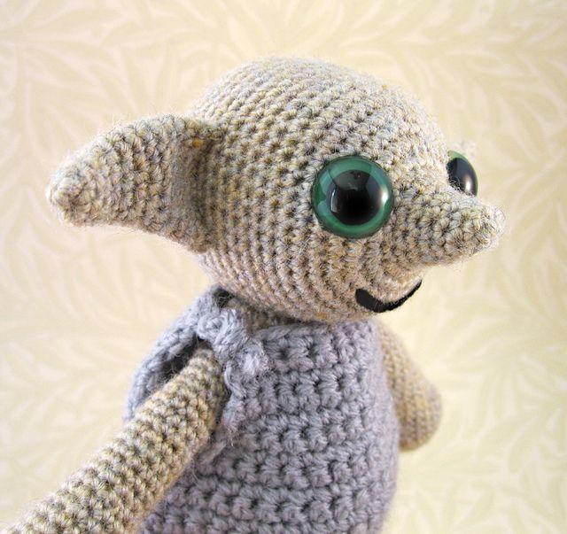 Dobby the House Elf by Lucy Ravenscar.  Crochet pattern from Lucy's Etsy shop: http://www.etsy.com/listing/85800576/pdf-of-little-folk-amigurumi-pattern-elf