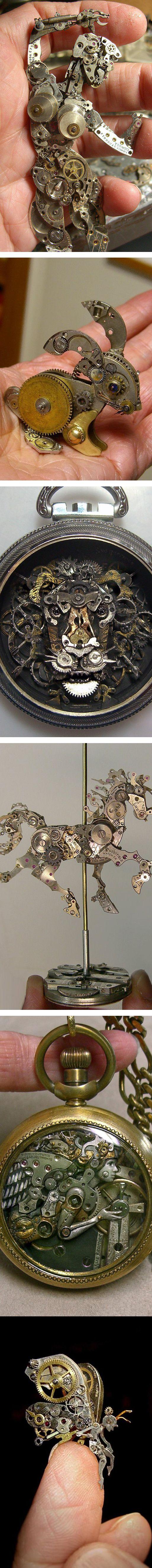 Watch Part Sculptures by Sue Beatrice