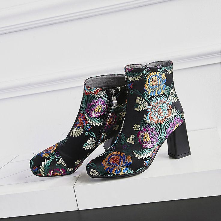 Chiko Timin Block Heel Ankle Boots - celá značka