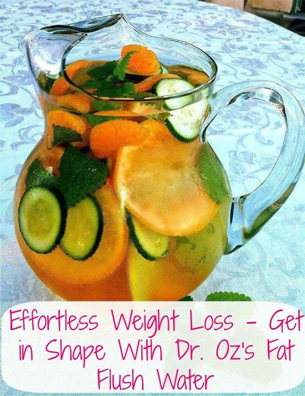 Orange, Cucumber, Mint Water | Dr. Oz's Detox Water Recipe for Weight Loss | https://diyprojects.com/diy-recipes-detox-waters/
