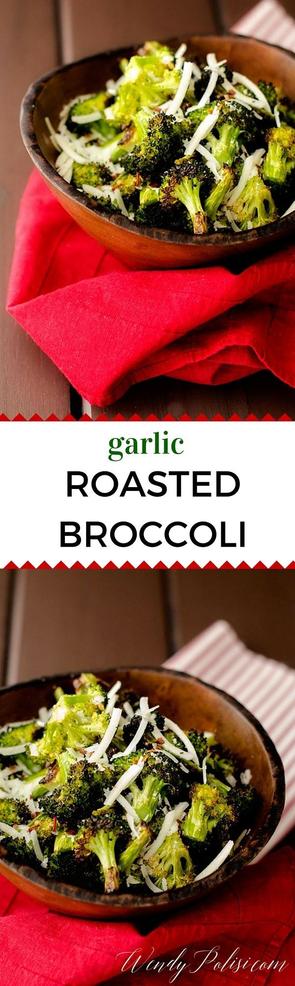 This Garlic Roasted Broccoli is an easy and delicious way to enjoy roasted broccoli.  This side dish is perfect when you are short on time. via @wendypolisi