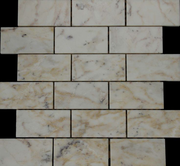 Mozaika marmurowa -  Kolekcja: Brico 510; Kod: B51010; Wykończenie: POLER; Materiał: Skyros Light; Wym. Kostki: 5,0x10 cm; Wym. Plastra: 33,5x31,1 cm