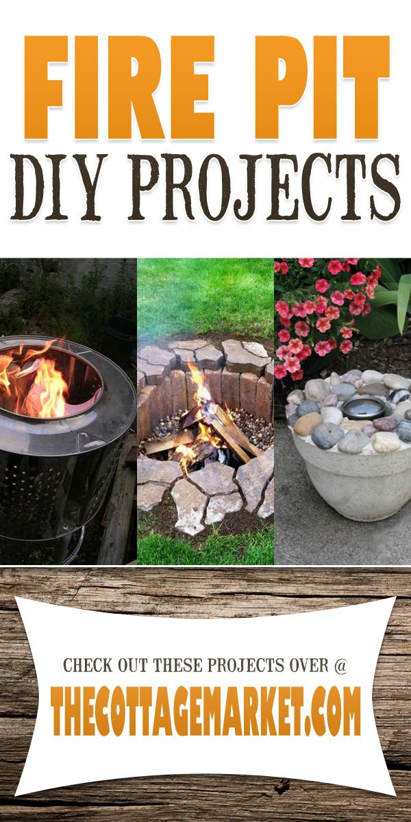 Fire Pit DIY Projects - The Cottage Market #DIYFirePit, #DIYFirePits, #FirePitDIYProjects