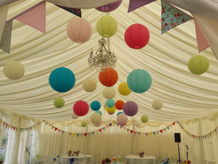 Monkton Barn Marlow A beautiful summer wedding at a wonderful location. A bright range of paper lanterns perfect for a wedding or a special event #lanternlove #eventprofs #buckinghamshire #marlow 