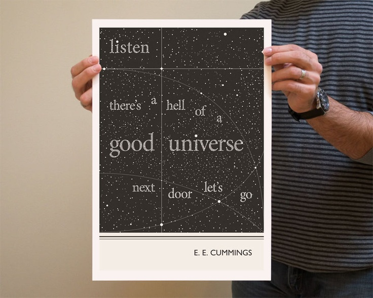 Original Illustration, E E Cummings quote