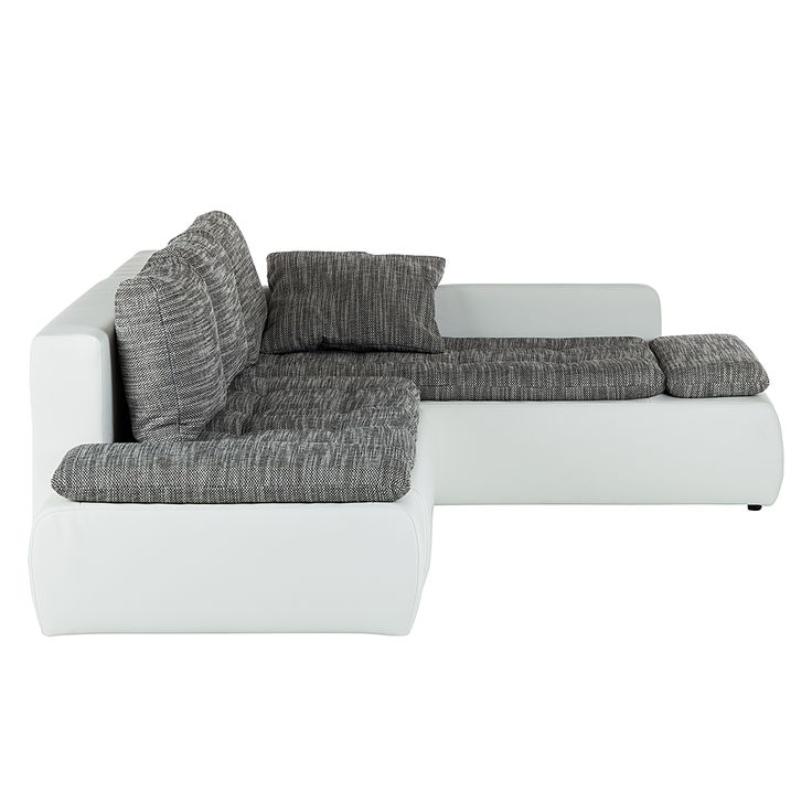 Ecksofa luna - grau-weiß - liegefunktion  Die besten 25+ Ecksofa weiß grau Ideen auf Pinterest | Kleines ...