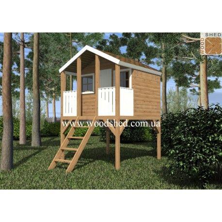 Детски домик «Куряча нога» - симпатичное архитектурное деревянное сооружение, напоминающее сказочный домик на куриных ножках. Он станет любимым местом для игр маленьких домочадцев и украсит ландшафтный дизайн вашего участка.  Преимущества и особенности конструкции  Детский домик «Куряча нога» - чудесное решение организовать досуг детей на свежем воздухе. Можете быть уверенными, что вашим детям понравится играть в таком сказочном домике, в котором они смогут создать свой собственный мир.