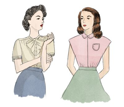 Cute And Simple 1940s Tops Vintage Love Blogs Information Resources Pinterest