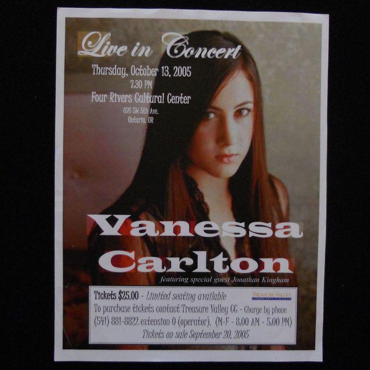 Vanessa Carlton Concert Flyer Poster Four Rivers Cultural Center Ontario Oregon #Nessaholics #VanessaCarlton