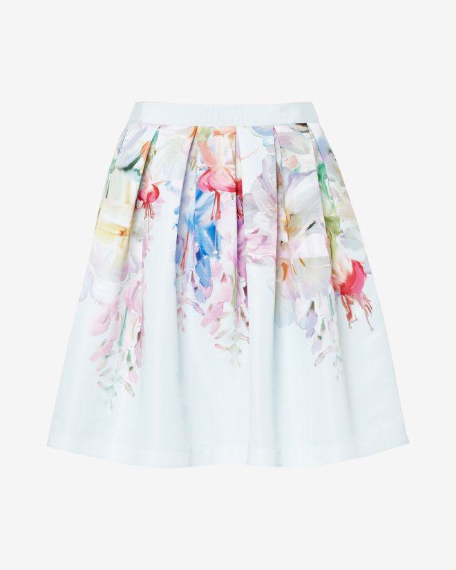 Hanging Garden full skirt - Mint | Skirts & Shorts | Ted Baker