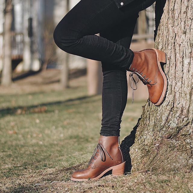 The Clara, made with S. B. Foot leather, triple-stitch construction, Goodyear Welting and a Moc Toe, has all the features that earned Red Wing Heritage boots the reputation for quality since 1905. The stacked-leather heel, women-specific last and Texon insole for comfort have made them an immediate favorite. #3404 #redwingwomen #redwingheritage
