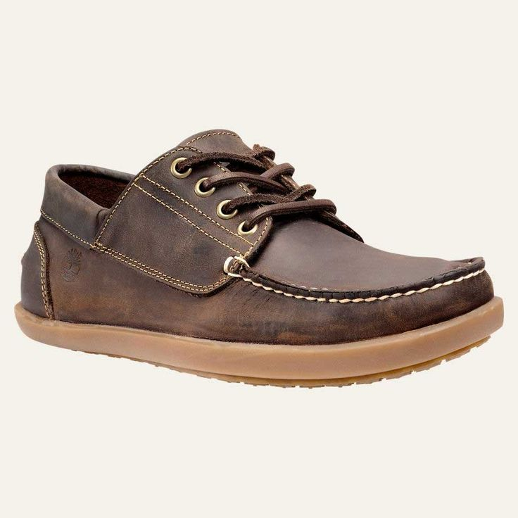 Timberland Odelay Four Eye Leather Camp Moccasin Dark Brown TB0A13K8931