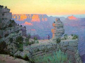 GRAND CANYON DUSK by Robert Goldman http://dailyartshow.faso.com/20130501/1160632