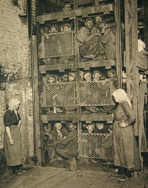 Coal miners Belgium, circa 1900