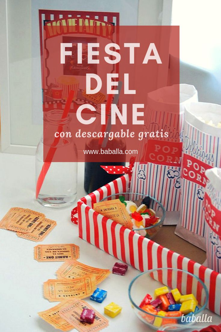 fiesta de cine con imprimible gratis cine en casa, cine manualidades #movienight Movie Party, Party Time, Netflix, Party Decoration, Happy Day, Ideas Para, First Birthdays, Crafts For Kids, Presents