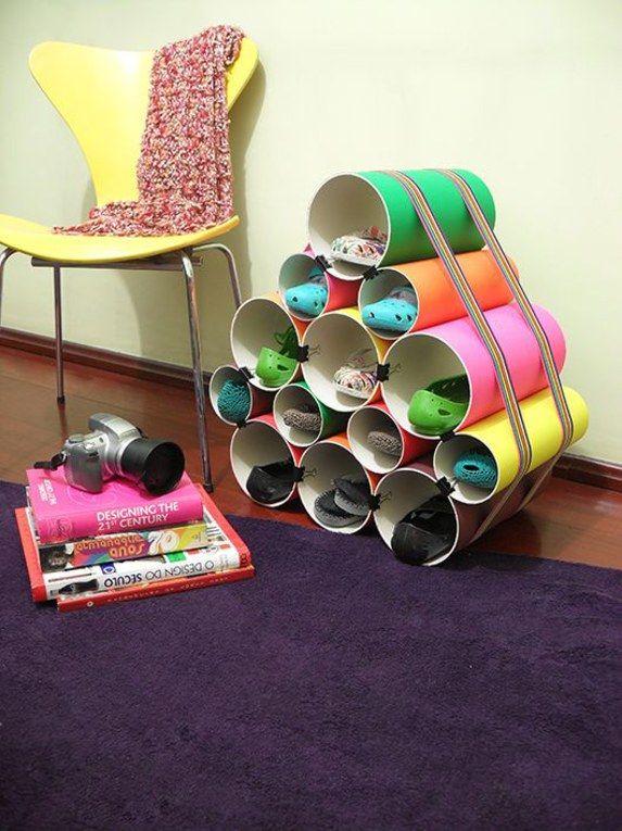 45 sapateiras simples e funcionaisVontade de por a casa em ordem? Pois venha, então, navegar por essa galeria de sapateiras práticas e criativas que montamos a partir do Pinterest...