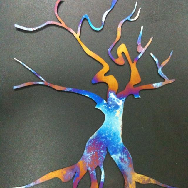 ErynMark - titanium hand sawn tree