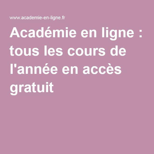 Cned Tous Les Cours De L Annee En Acces Gratuit Apprendre L