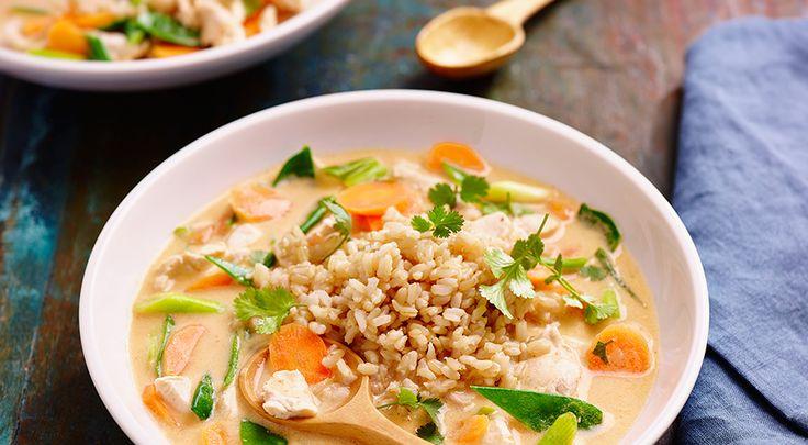 Thaise kippensoep met rijst