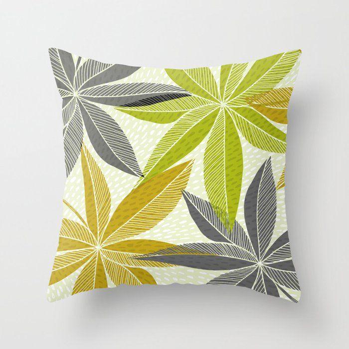 Modern Hawaiian Print Throw Pillow By Kristiangallagher Society6
