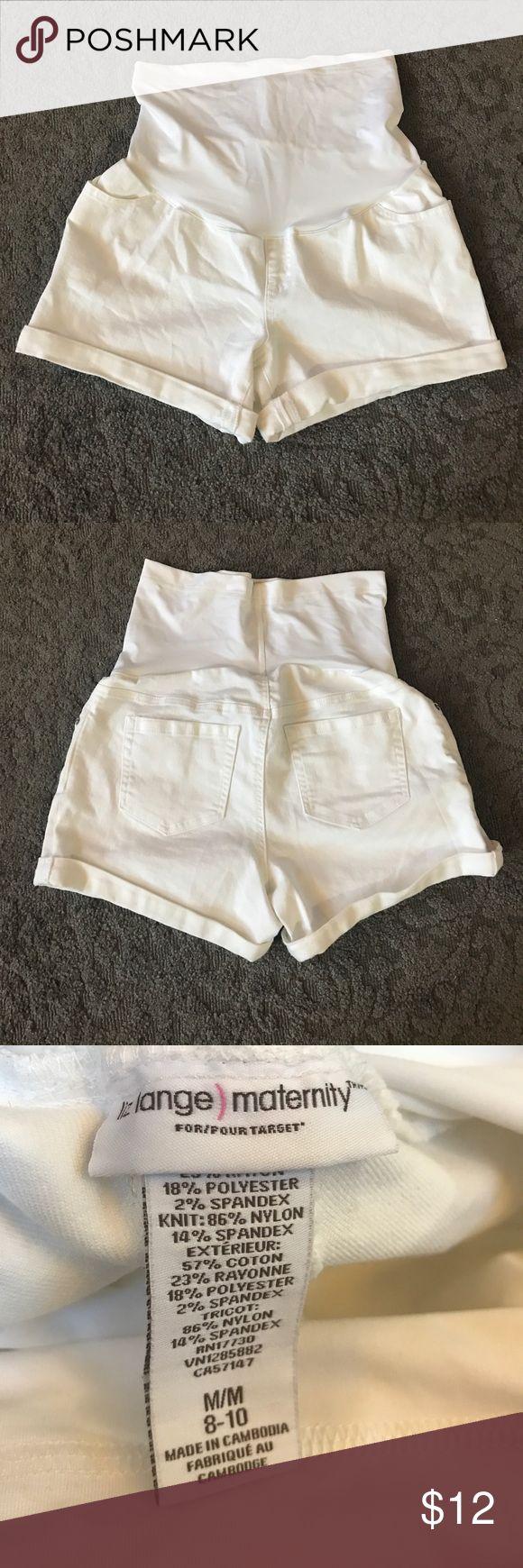 Liz Lange Maternity Shorts White Women's maternity shorts. Worn once size M (8/10) Liz Lange for Target Shorts Jean Shorts