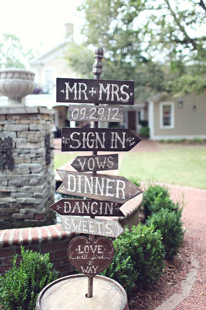 wedding direction signs | j.woodberry photography | Glamour & Grace