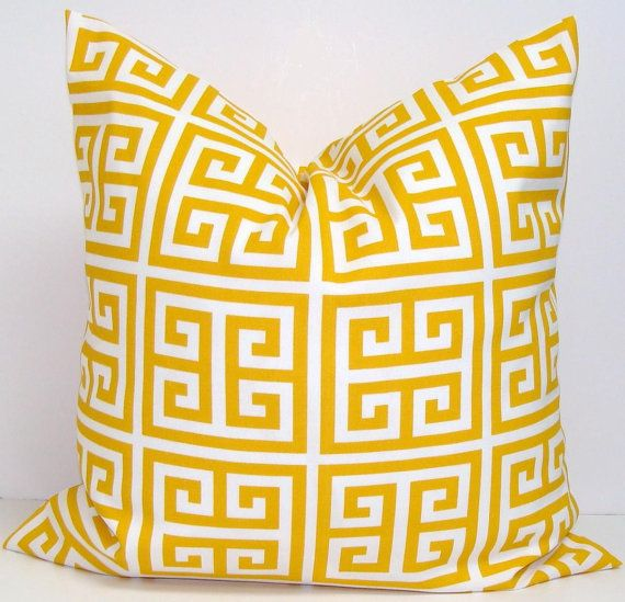YELLOW OUTDOOR PILLOW Sale.24x24 Inch Decorative Pillow  Cover.Housewares.Home Decor.