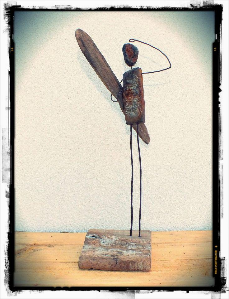 vendee art, surf art, driftwood