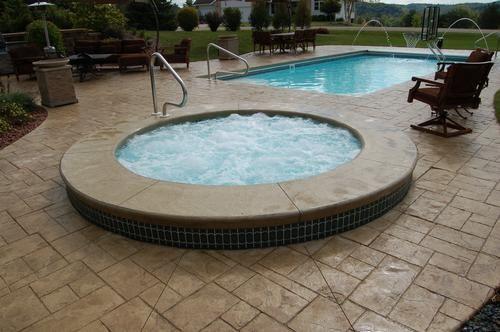 deck above ground fiberglass pool   Swimming Pools, Above Ground Swimming Pools, Inground Swimming Pools