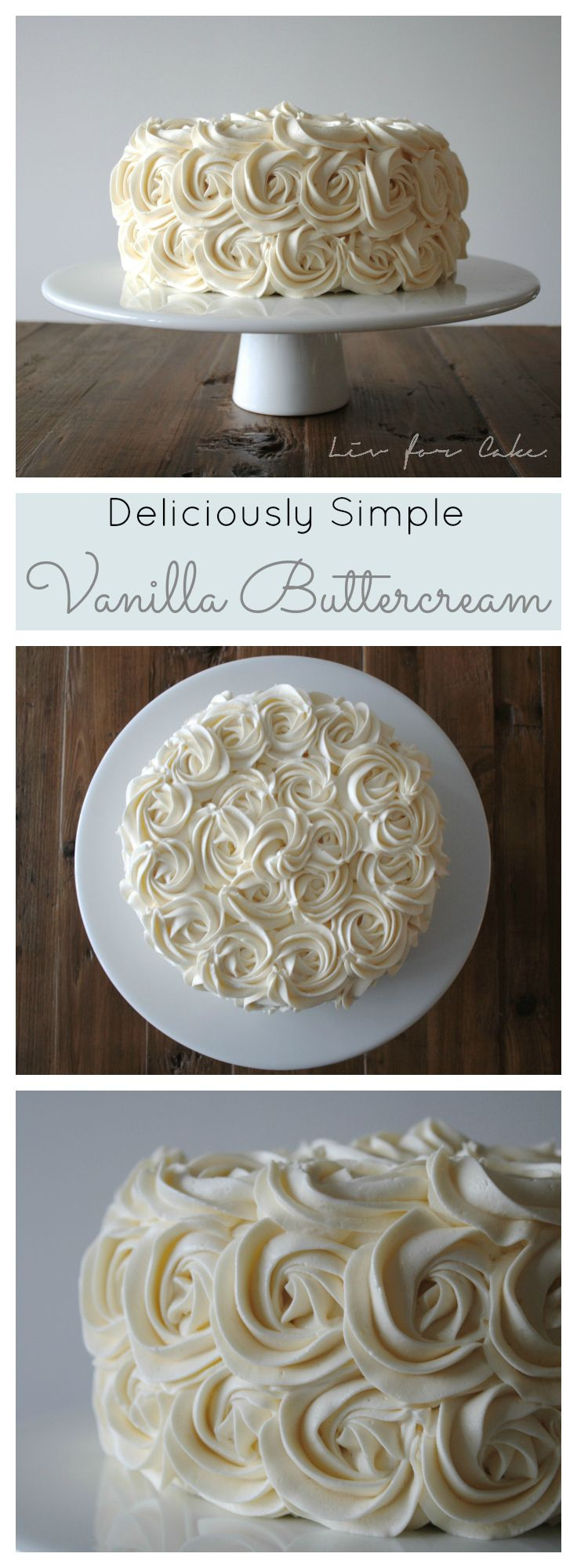 This simple Vanilla Buttercream is one of they best I've ever had! Creamy, smooth, and delicious. | livforcake.com