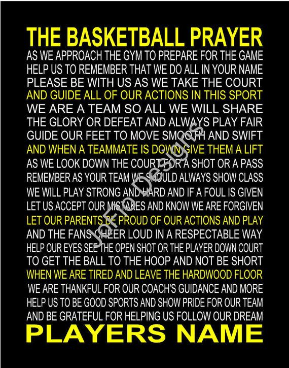 The Basketball Prayer personalized 11 X 14 by joflo33us on Etsy