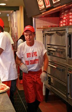 David Cassidy visits Famiglia Pizzaria on October 19, 2010 in New York City.