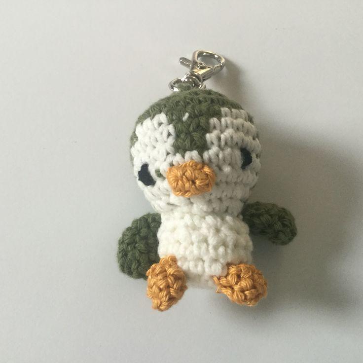 Gehaakte pinguin, groen