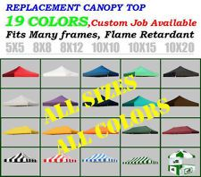 $79 - New Ez Pop Up Replacement instant canopy gazebo tent Top Cover Choose 19 Colors