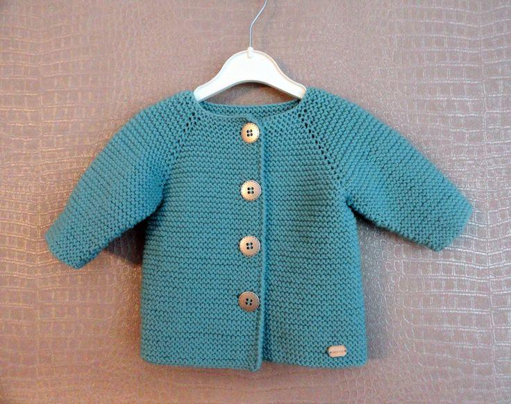 Strickjacken - Baby Strickjacke, Gr. 56/62 - ein Designerstück von looop bei DaWanda