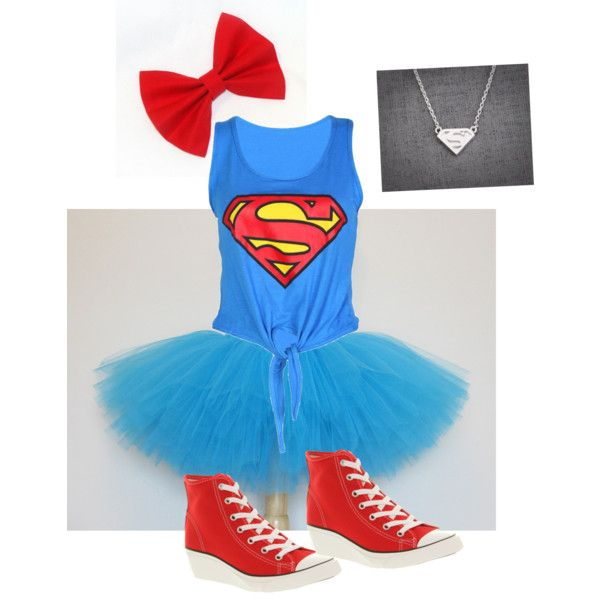 """""""Early Halloween DIY: SuperGirl!"""" by sofirella on Polyvore"""