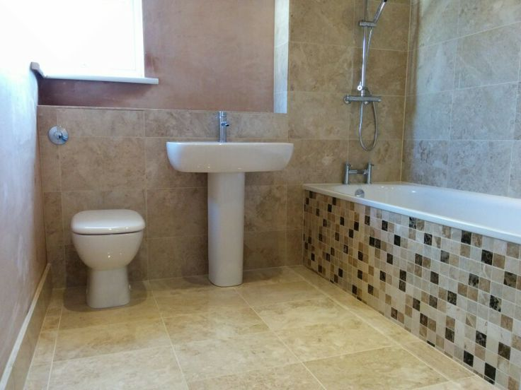 Our New Bathroom Yay Cappuccino Marble Floor And Wall Tiles With Emperador
