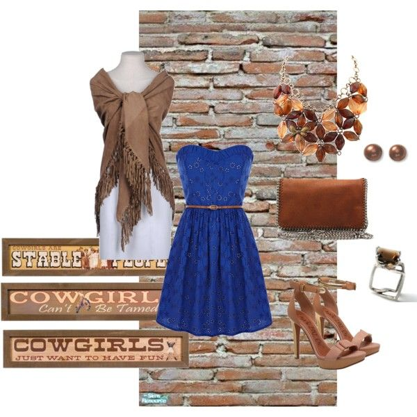 Party Girl Cow Girl, created by christinamarie31 on Polyvore  but with boots ;)