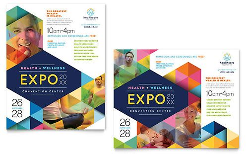 Health Fair Poster Template Design  Brochures