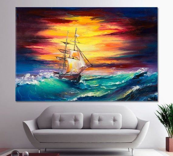 Ship Painting Ship Oil Painting Storm Paintings Ocean Etsy Ship Paintings Oil Painting Boat Art