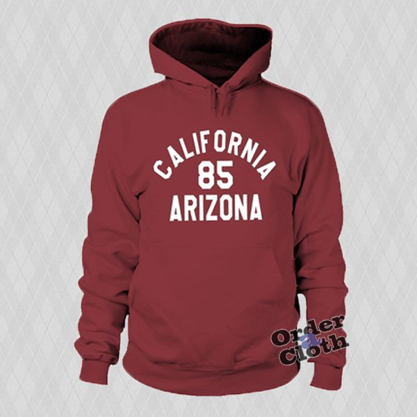 85 Arizona Caifornia Hoodie from orderacloth.com This hoodie is Made To Order, one by one printed so we can control the quality.