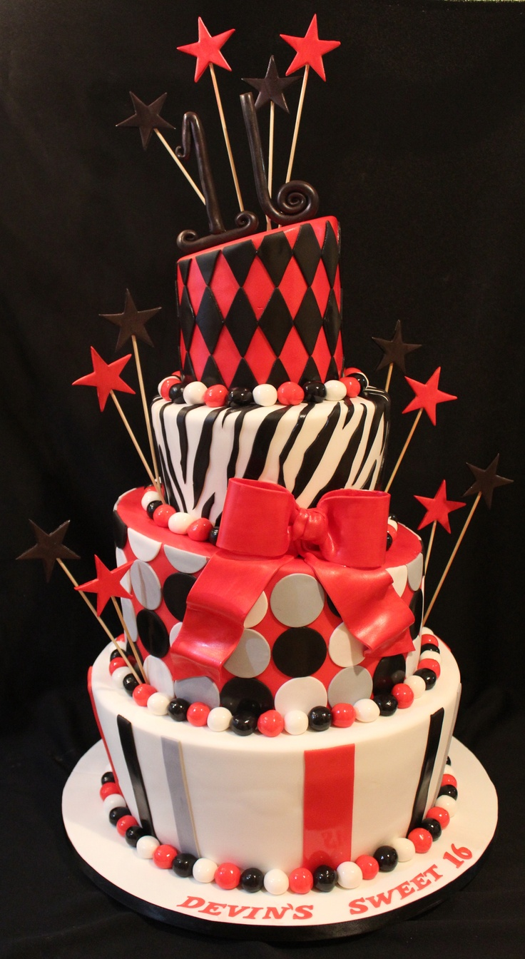 96 Best Sweet 16 Cakes Images On Pinterest 16th Birthday Cakes