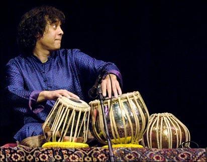 Zakir Hussain, tabla player