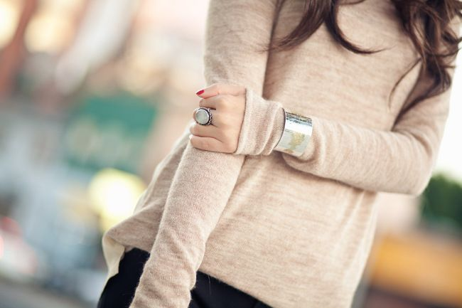 NOV2011: Cuffs Bracelets, Fashion, Laid Back Style, Silver Jewellery, Silver Cuff, Clothing, Sweaters Weather, Chunky Jewelry, Accessories