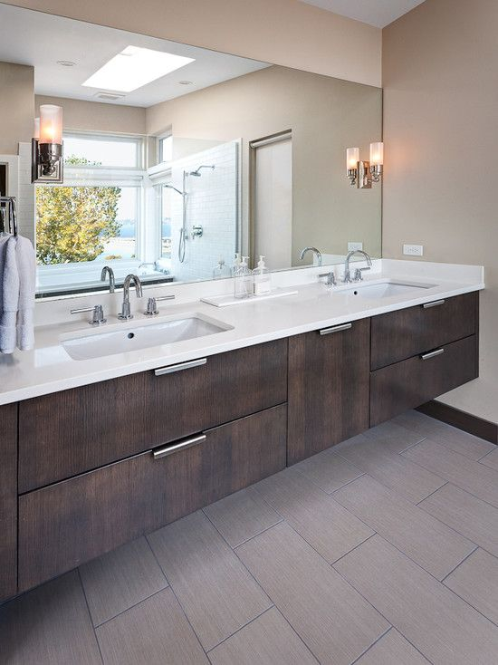 Contemporary +grey +porcelain +wood +tile Design, Pictures, Remodel, Decor and Ideas - page 5
