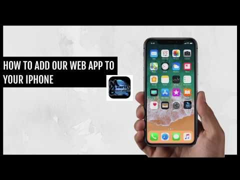 Mauries Excavations - How To Add Our Web App To Your iPhone - YouTube