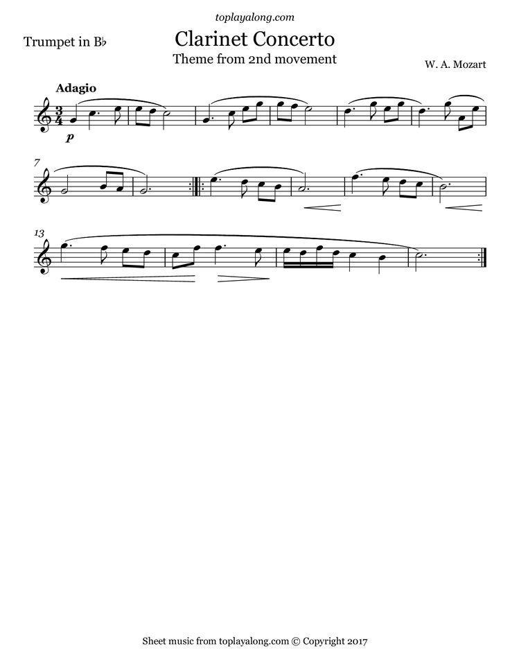 All Music Chords pink panther clarinet sheet music : 25 best Trumpet Sheet Music images on Pinterest | Trumpet sheet ...